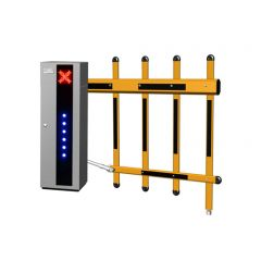 Active vehicle park security barriers