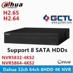 Dahua NVR5832-4KS2 32CH 64CH 8 SATA Network Video Recorder