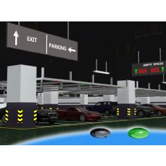 Smart Ultrasonic  car parking guidance system