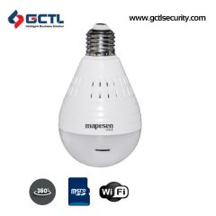 MAPESEN VR-IP0H300-L4 360 Degree Panoramic WiFi SD Card Bulb Camera