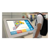 Interactive wayfinding touch kiosk