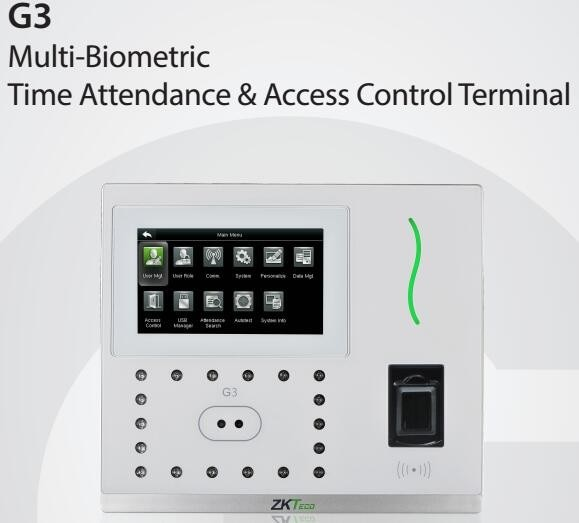 G3 Plus Anti-Glare Face & Fingerprint Time Attendance & Access Control Terminal