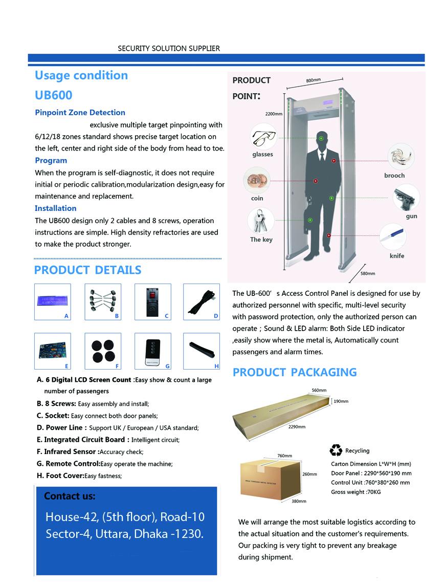 Archway Metal Detector Gate Supplier in Bangladesh