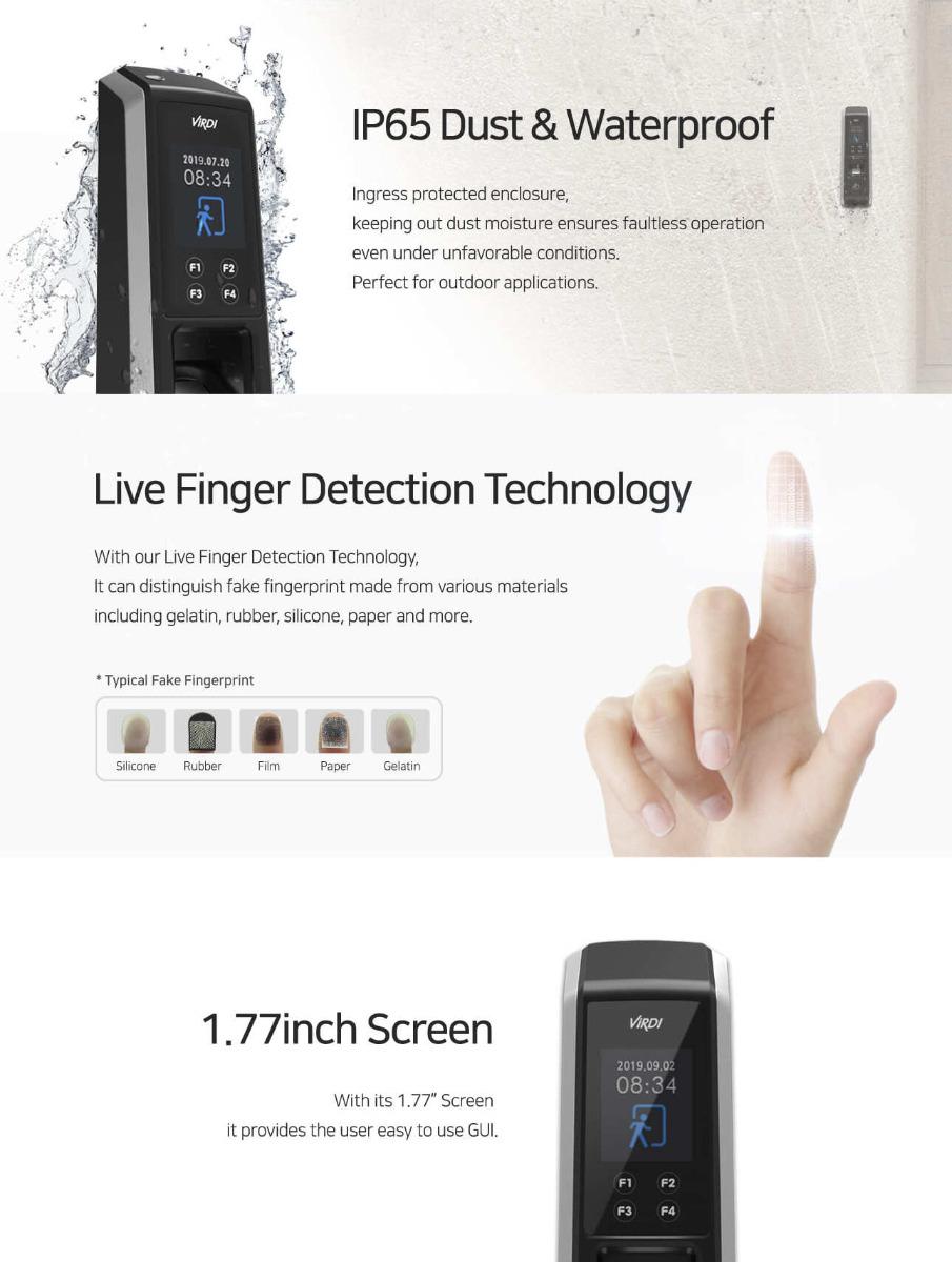 Biometric Fingerprint Time Attendance Virdi AC-2100 Plus
