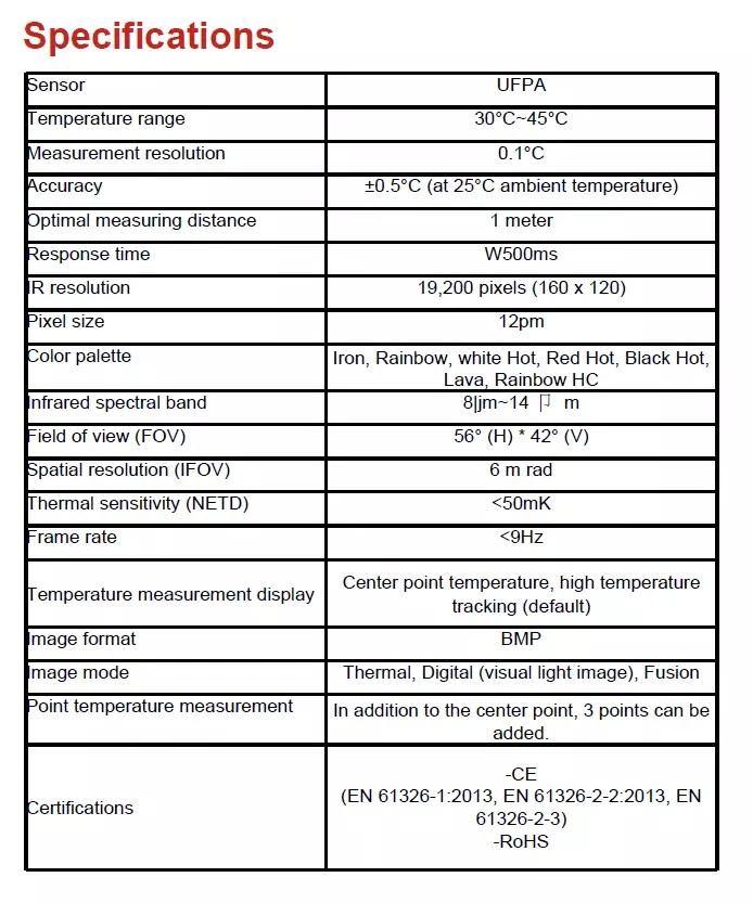 Digital Handheld Infrared Thermal Imaging IP Camera
