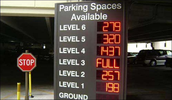 Intelligent Parking Guidance LED Display