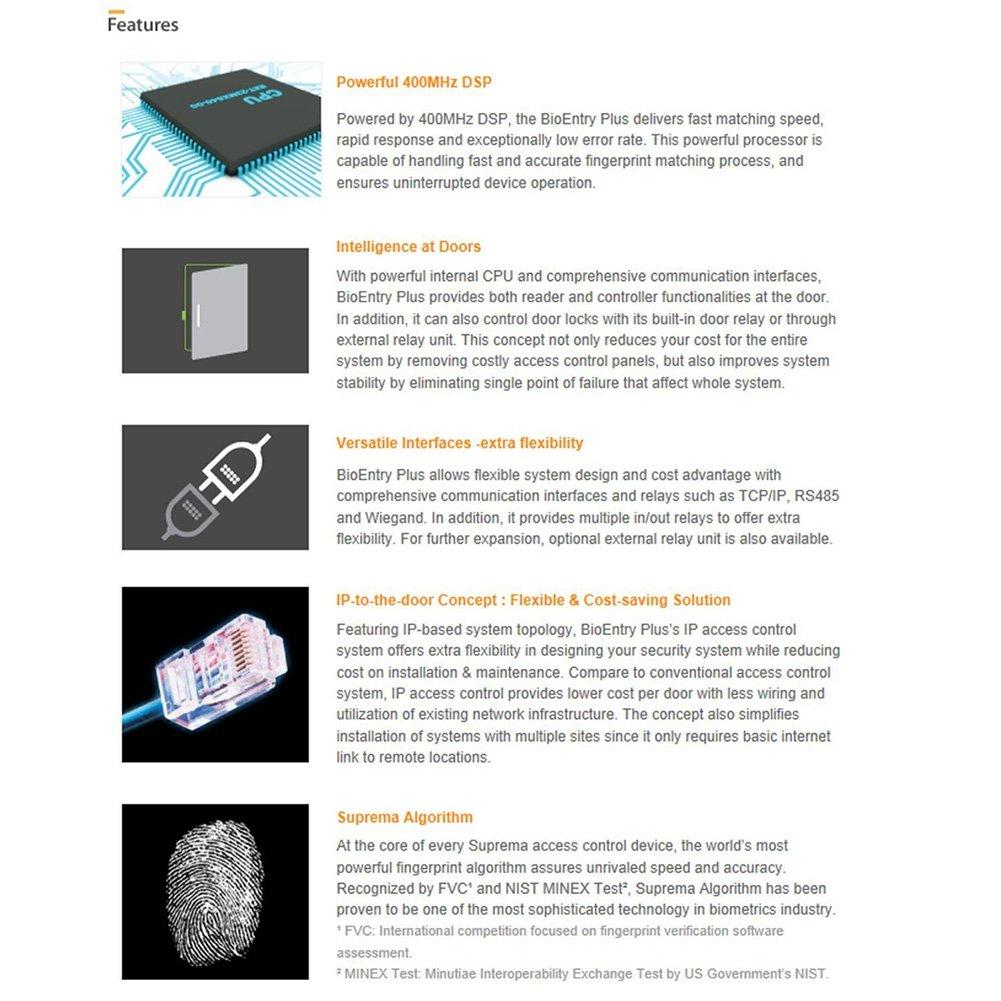 Suprema Fingerprint Access Control