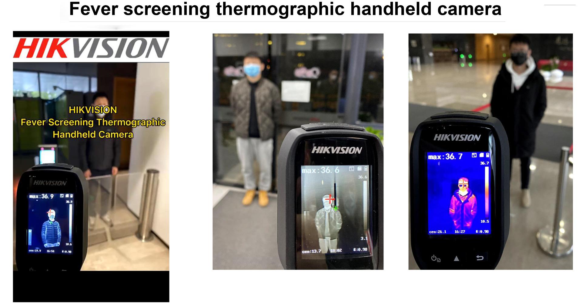 Fever screening thermographic handheld camera